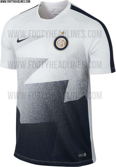 Inter Milan 2015/2016 Pre-Match and Training Shirts, via  FootyHeadlines