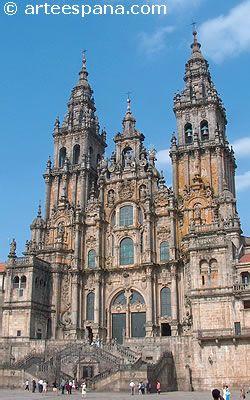 Arquitectura Barroca. Fachada del Obradoiro de la Catedral de Santigo de Compostela