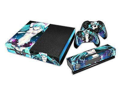 Designer Xbox One Anime Blue Haired Girl Vinyl Sticker ...