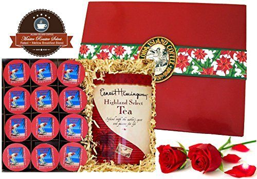 K-cup and Tea Gourmet Coffee Gift for Christmas, 12 K-cups of Organic Breakfast Blend and Gourmet Tea in Gift Presentation - http://goodvibeorganics.com/k-cup-and-tea-gourmet-coffee-gift-for-christmas-12-k-cups-of-organic-breakfast-blend-and-gourmet-tea-in-gift-presentation/