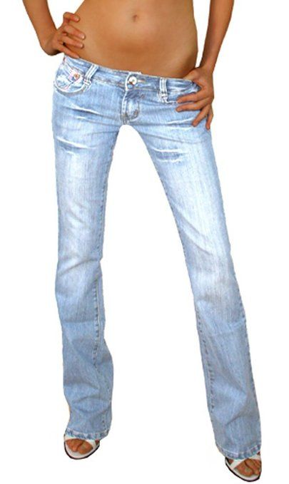 bestyledberlin Jeans taille basse style low rise jeans pour femme 34/XS