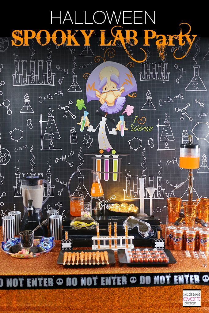 Halloween Spooky Lab Science Party - a fun party theme idea for kids!