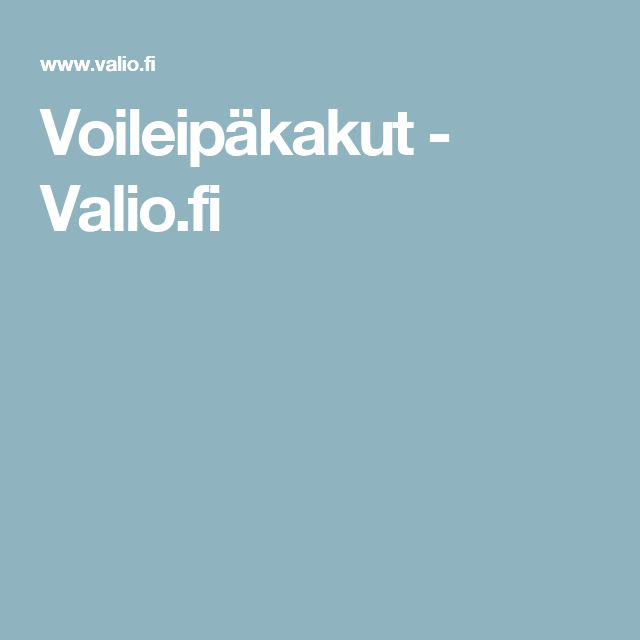 Voileipäkakut - Valio.fi