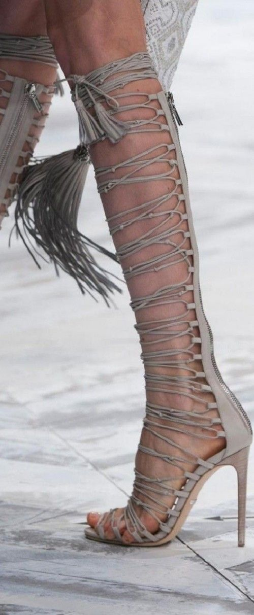 fringe. lace-ups. gladiators. heels. what more could you need?