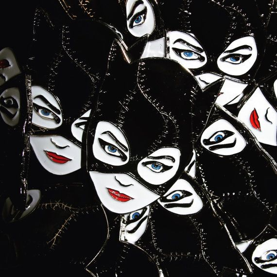 Handgemachte Catwoman Tim Burtons Batman kehrt weicher Emaille