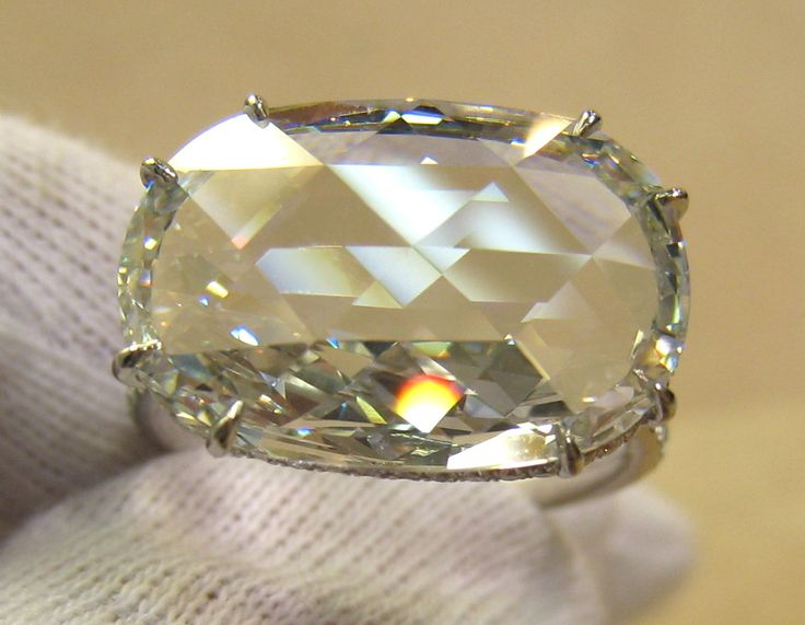 00583 Ring 5.67ct G FL Rose Cut Diamond Ring