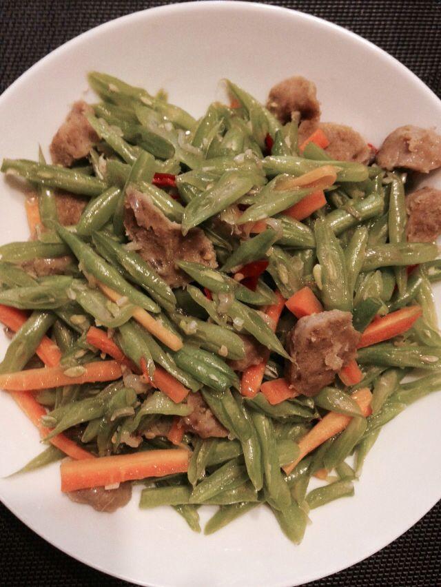 Tumis buncis wortel bakso #homemade
