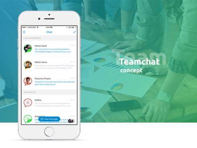 [iOS] Team chat by Martin Gorol