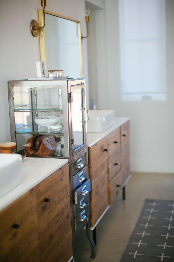 a modern family farm house tour wooden bathroom cabinetstexas