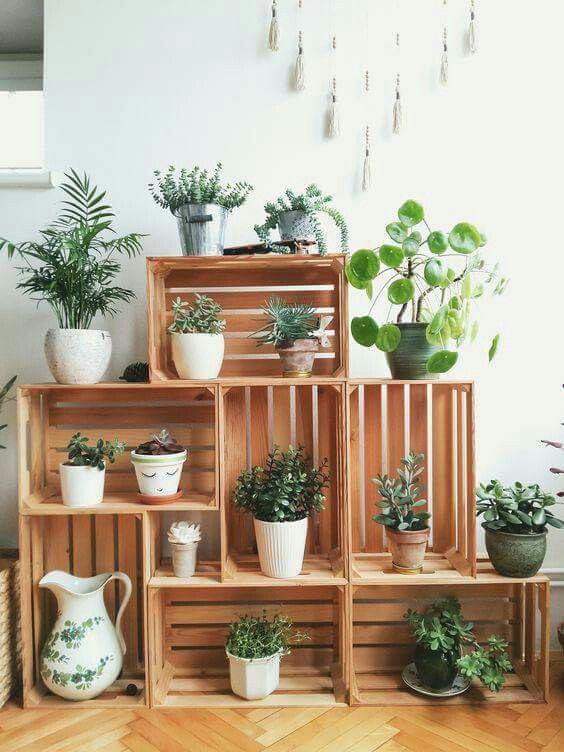 diy meuble plantes