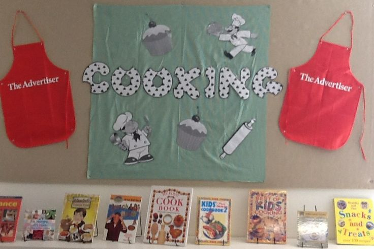 Library Displays Cooking