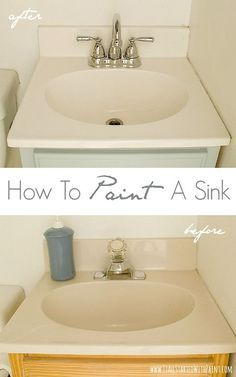 How to Paint a Sink - When the budget isn't ready to replace -- REFRESH with epoxy paint!
