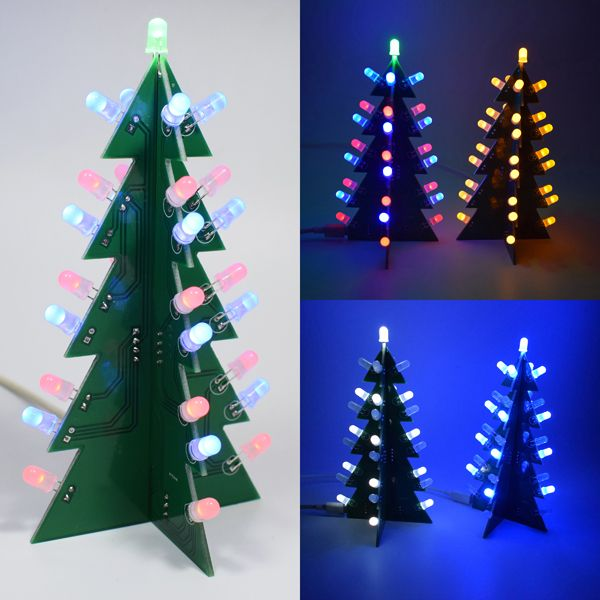 Geekcreita Diy Star Effect 3d Led Decorative Christmas Tree Kit With Images Christmas Tree Kit Diy Christmas Tree Christmas Tree