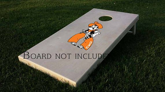 Check out this item in my Etsy shop https://www.etsy.com/listing/520375760/pistol-pete-osu-oklahoma-cornhole-game