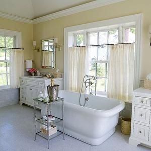 Tub in Front of Window, Traditional, bathroom, Alisberg Parker Architects