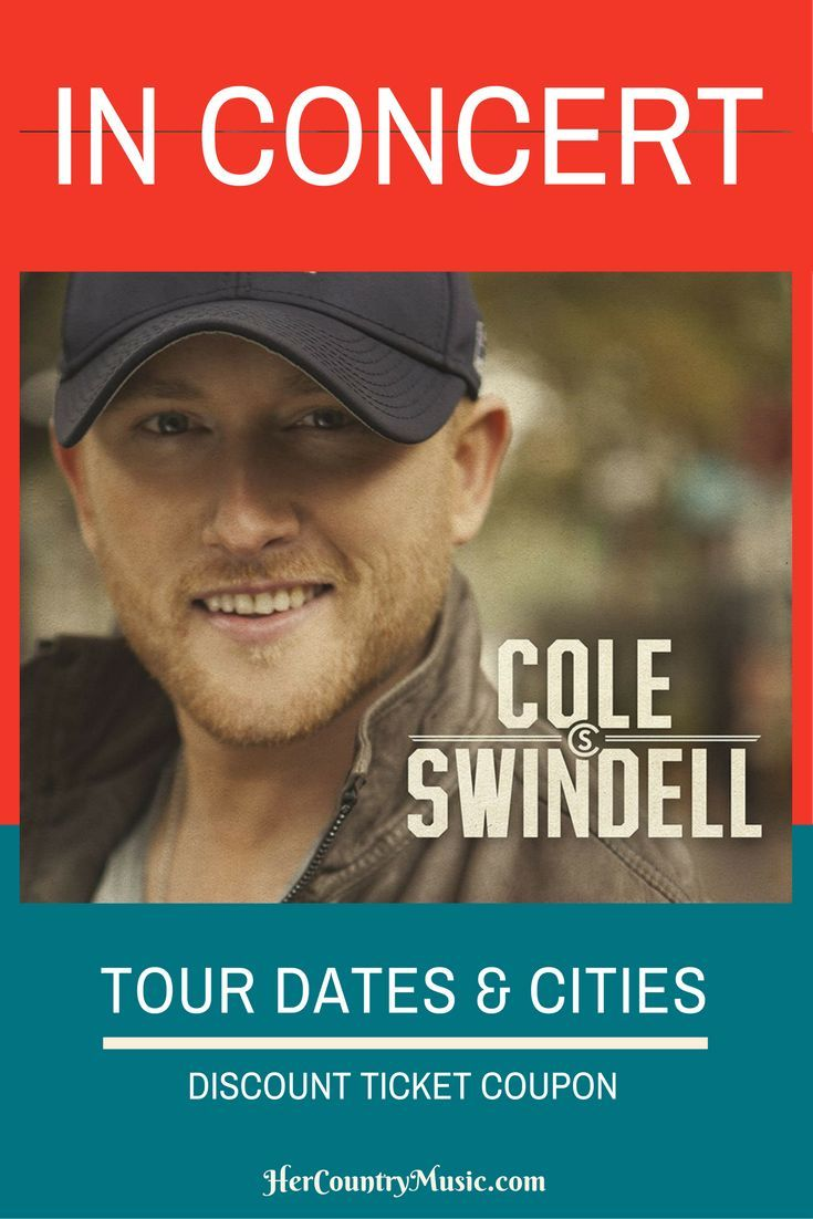 Is Cole Swindell tour comin' to your town? Get Cole Swindell tour cites, dates, tickets. The works! ..at http://HerCountryMusic.com