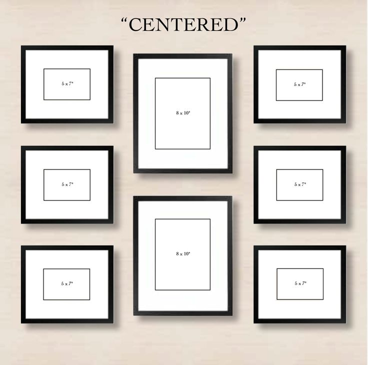 Centered: This simple layout requires minimal effort. Just choose one or two frames to center and align the left and right sides with one another.