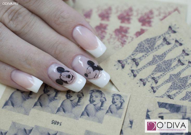 """Фотодизайн """"Микки 1030"""" http://odiva.ru/~sAqj5  #фотодизайн #наклейкинаногти #наклейкидляногтей #дизайнногтей #ногти #идеиманикюра #маникюр"""