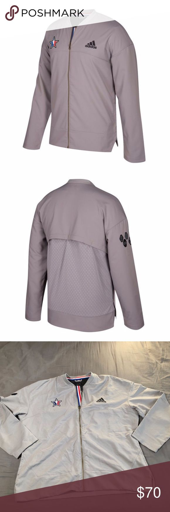 Adidas 2017 NBA All-Star On-Court Full Zip Jacket NWT Adidas Men's 2017 NBA All-Star Official Authentic On-Court Full Zip Jacket 2XL adidas Jackets & Coats