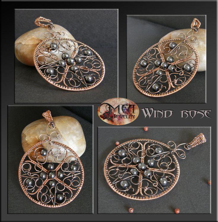 Wind rose- pendant by mea00.deviantart.com on @DeviantArt