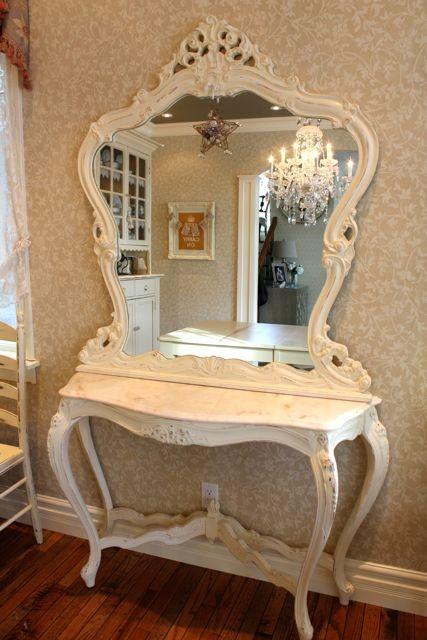 Marble Console & Ornate Mirror- So pretty !!!