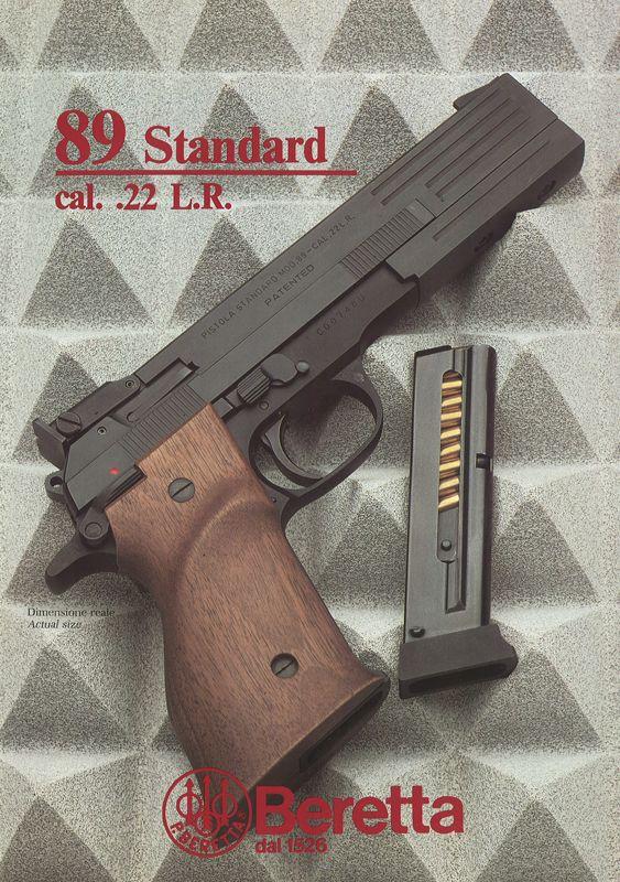 Brochure Beretta mod. 89 Standard cal .22 L.R. (1988)