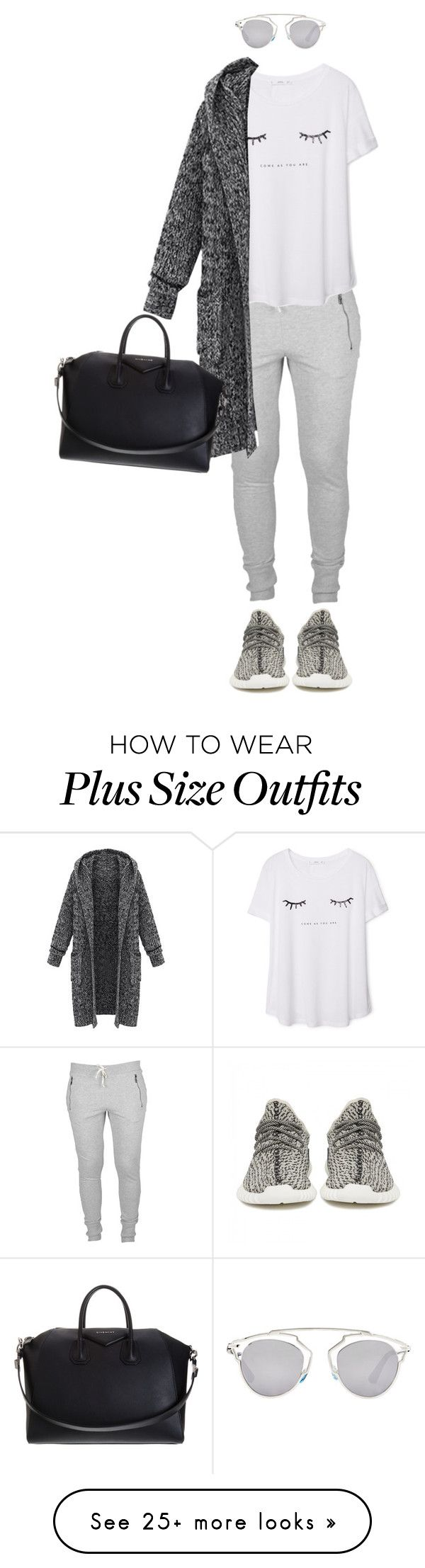 """sunday lazy"" by swagger97 on Polyvore featuring adidas Originals, MANGO, Givenchy and Christian Dior"