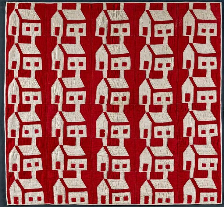 American Folk Art Museum | red and white quilts: Red And White, Vintage Quilts, Schoolhouse Quilts, Red House, Folk Art, Antiques Quilts, White Quilts, White House, Schools House