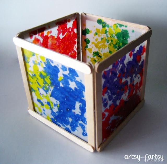 artsy-fartsy mama: a creative mama doing creative things!: DIY Wax Paper Lantern