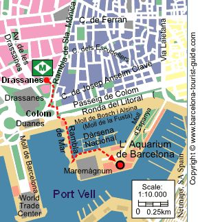 Barcelona tourist attractions, hours, costs, maps
