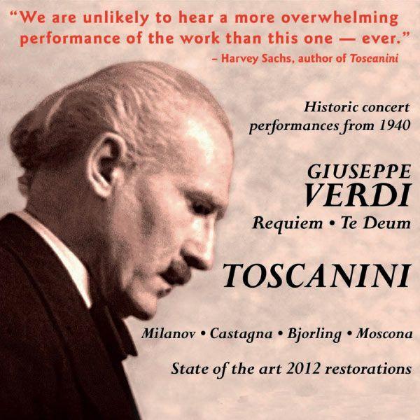 Arturo Toscanini Arturo Toscanini Conducts Verdi: Requiem Mass & Te ...