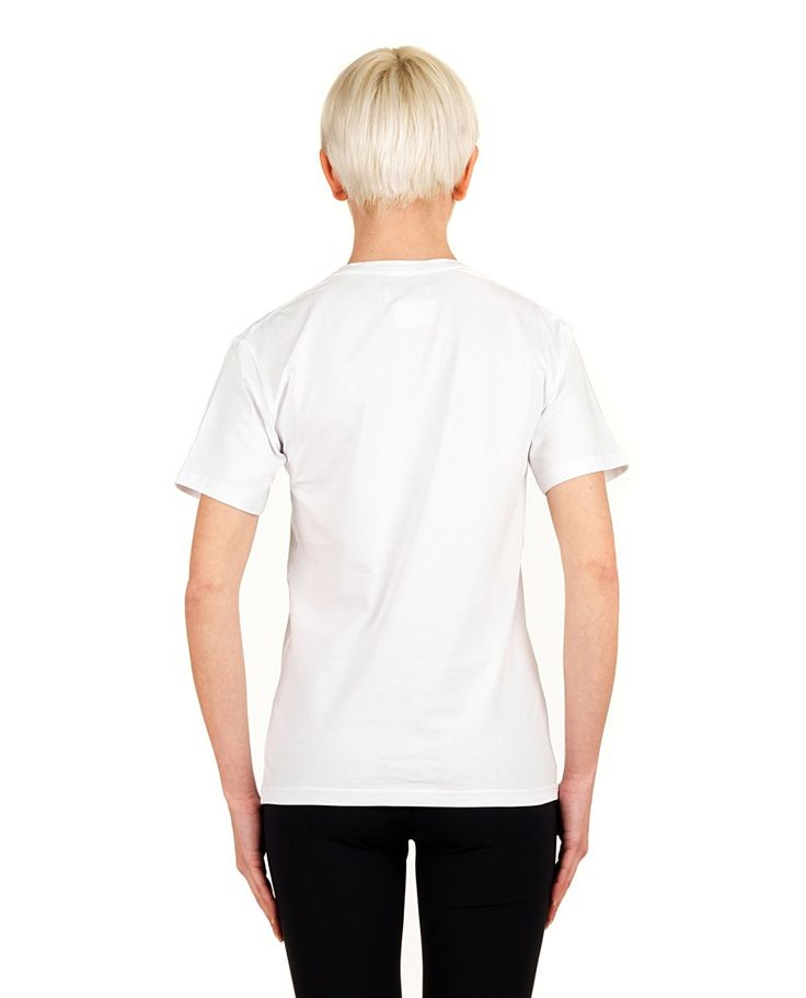 "ANNA K T-SHIRT ""PRETTY WOMAN"" White cotton T-shirt crew-neck short sleeves front print 80% CO 20% EA"