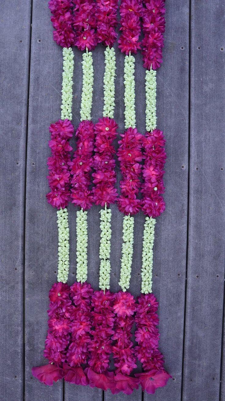 5 PC 4.5 feet Pink Marigold white jasmine Garland