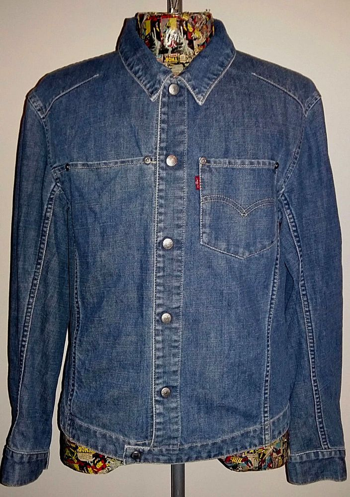 42022101436e04 Vintage Men s Red Tag Blue Denim Engineered Jacket by LEVI S. Size M.   Levis  BasicJacket  Everyday