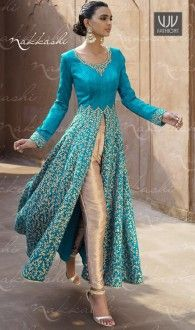 Buy Now @ http://goo.gl/a2cfy3  Astonishing Bhagalpuri Silk Resham Work Designer Suit  Make the heads flip as soon as you dress up with this turquoise bhagalpuri silk designer suit. Look ravishing clad in this dress that's enhanced embroidered and resham work. Comes with matching bottom and dupatta  Product No  VJV-NAKK11040  @ www.vjvfashions.com  #dress #dresses #bollywoodfashion #celebrity #fashions #fashion #indianwedding #wedding #salwarsuit #salwarkameez #indian #ethnics #clothes