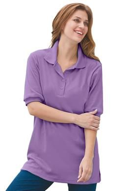 Oversized Polo in Violet