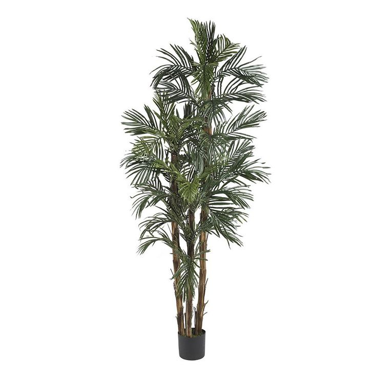 nearly natural 6-ft. Silk Robellini Palm Tree, Green