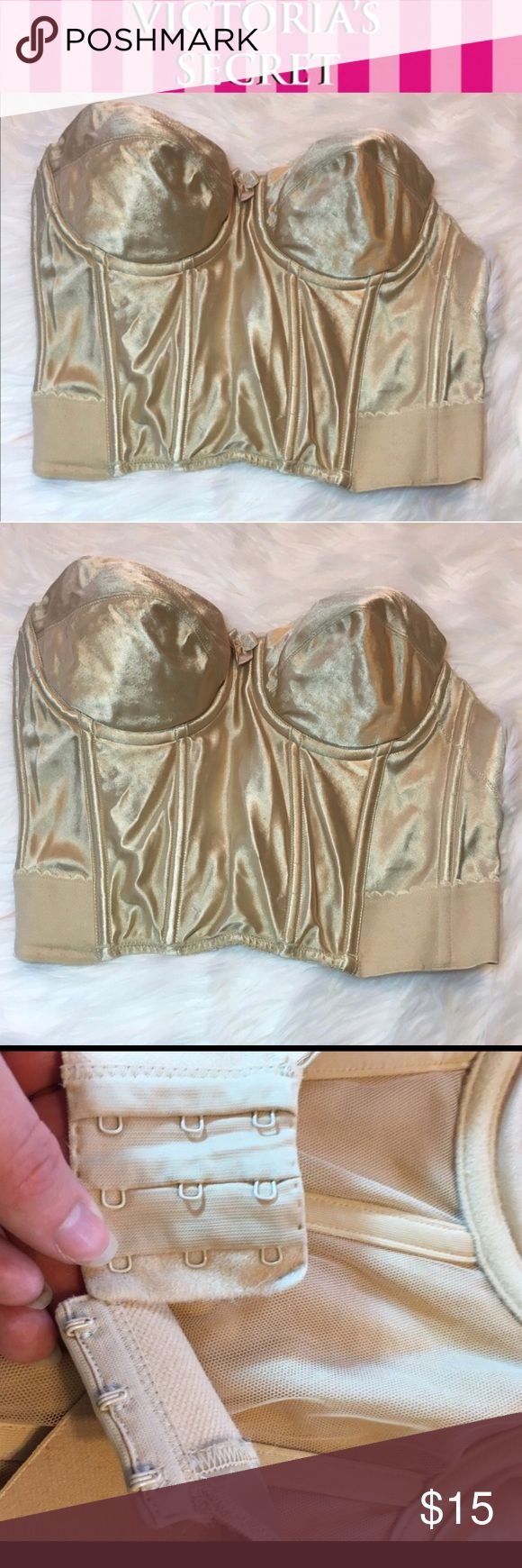 Victoria's Secret Tan Strapless Shapewear Bra 34B Minor wear -add your items to a bundle so I can make you a discount offer!  -some items prices are firm unless bundled  -no holds  -no trades  -same day or next day shipping Victoria's Secret Intimates & Sleepwear Shapewear