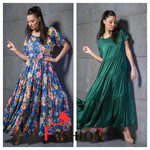💥1️⃣9️⃣3️⃣9️⃣руб💥 Шелковое платье однотонное в пол №1077 Производитель: VERONIKA MILTON Ткань: Шёлк Размеры: универсальный (44-48). Цвета: цветочный принт - синий, черный, красный; однотон - красный, зеленый, синий;