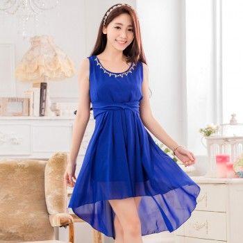 60-gm-georgette-blue-plain-frock-style-dress