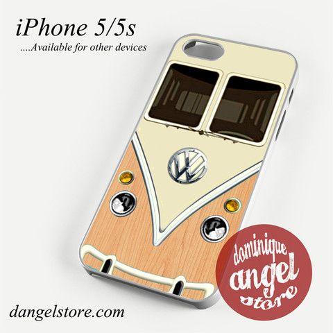 light wood vw retro bus Phone case for iPhone 4/4s/5/5c/5s/6/6 plus