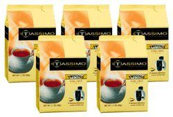 Tassimo 01318 Twinings Earl Grey Tea Pods 5Pack 80 Pods * Click image to review more details. (This is an affiliate link and I receive a commission for the sales)