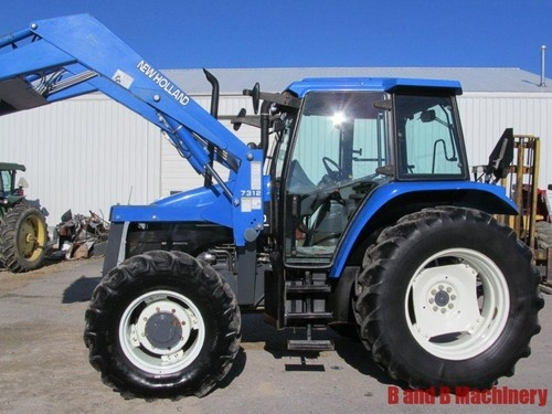 ford new holland ts110 diesel farm agriculture tractor with cab loader 4x4 holland. Black Bedroom Furniture Sets. Home Design Ideas