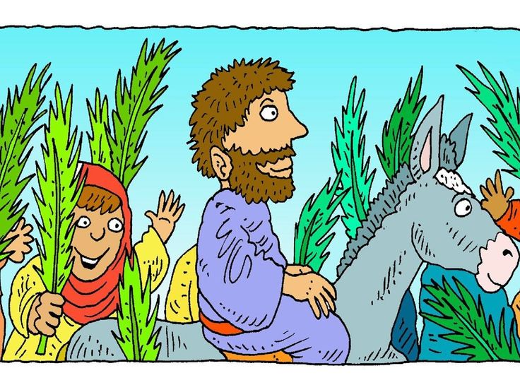 Some people picked palm branches from palm trees growing by the road. They waved the branches as Jesus passed by. – Slide 6