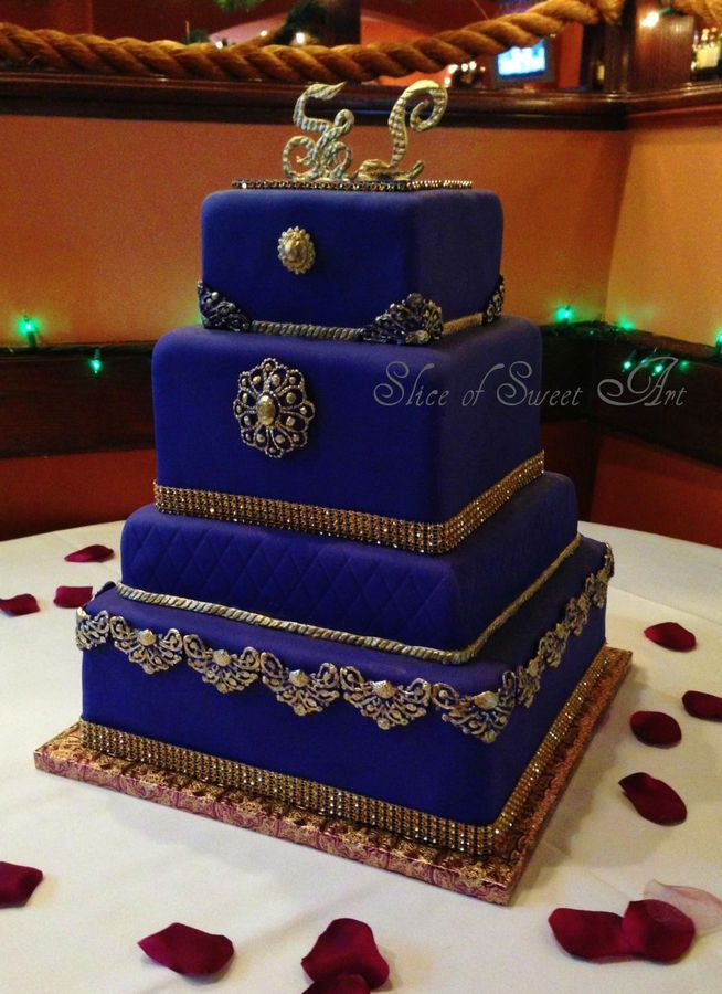 Purple and Gold Wedding Gowns | Regal in Purple & Gold — Square Wedding Cakes