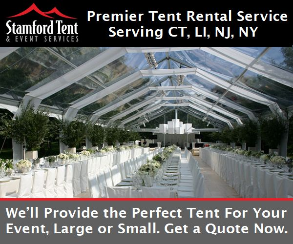 Stamford Tent & Event Services is the premier provider of tent rentals and sales for Connecticut, Long Island, New York and New Jersey. Our professional team has decades of experience designing the perfect environment for your special event including weddings, corporate events, receptions, festivals, graduations, bar and bat mitzvahs, family reunions, or intimate outdoor and garden parties