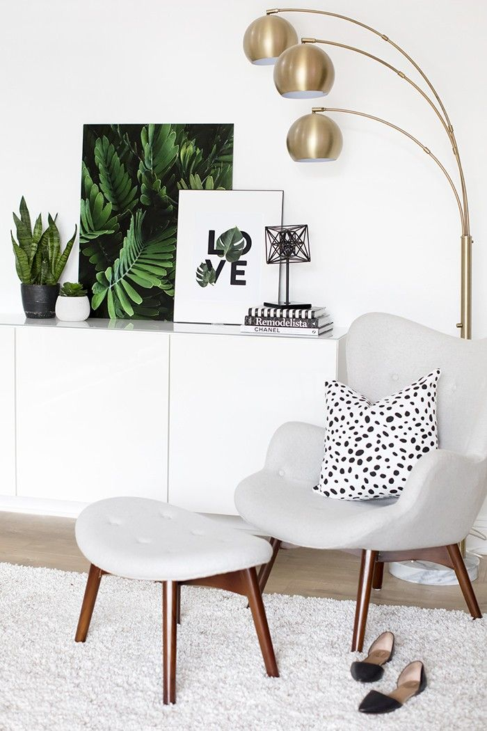 Wall art for the stylish home:  A palm print collaboration between Ashlee Proffitt and Shay Cochrane.  Palm Leaves. Palm Trees. Oversized Art. Living room decor. Gallery Wall. LOVE print.