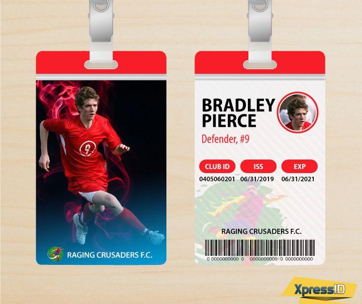 Soccer Player Id Soccer Players Custom Badges Id Badge