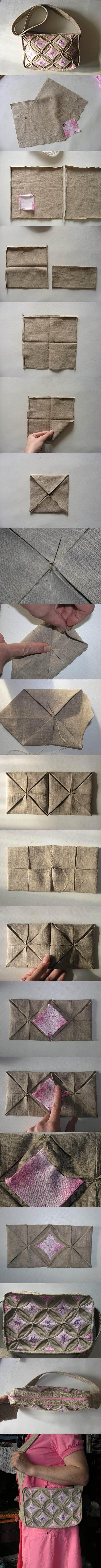 DIY Origami Style Handbag | iCreativeIdeas.com Like Us on Facebook ==> https://www.facebook.com/icreativeideas