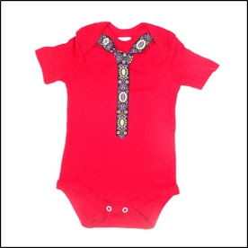 Lohla - Clothes - Red Onesie with Tie - R80